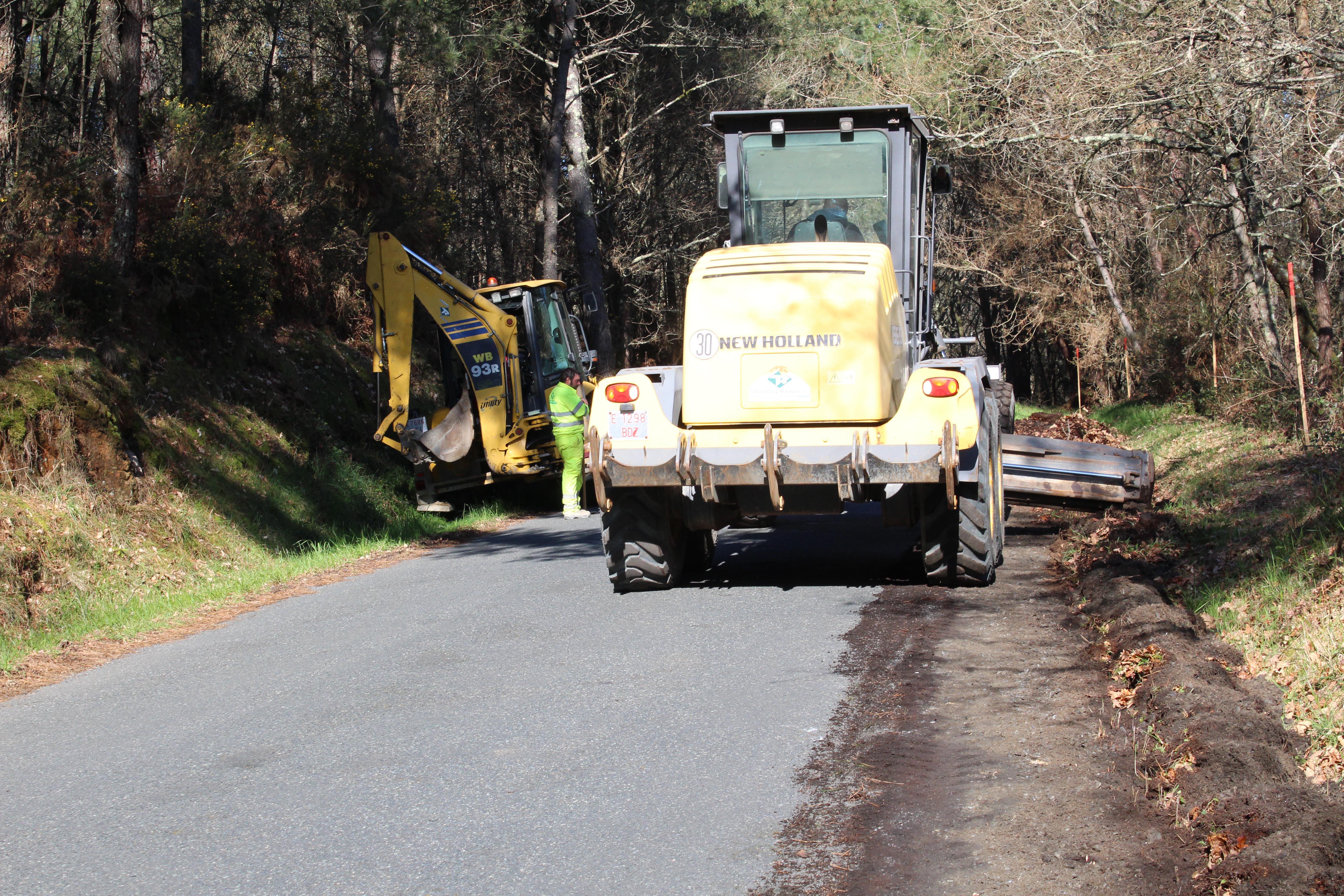 En marcha as obras de mellora do vial entre Piñeiro e Cira, cunha inversión de 300.000 €