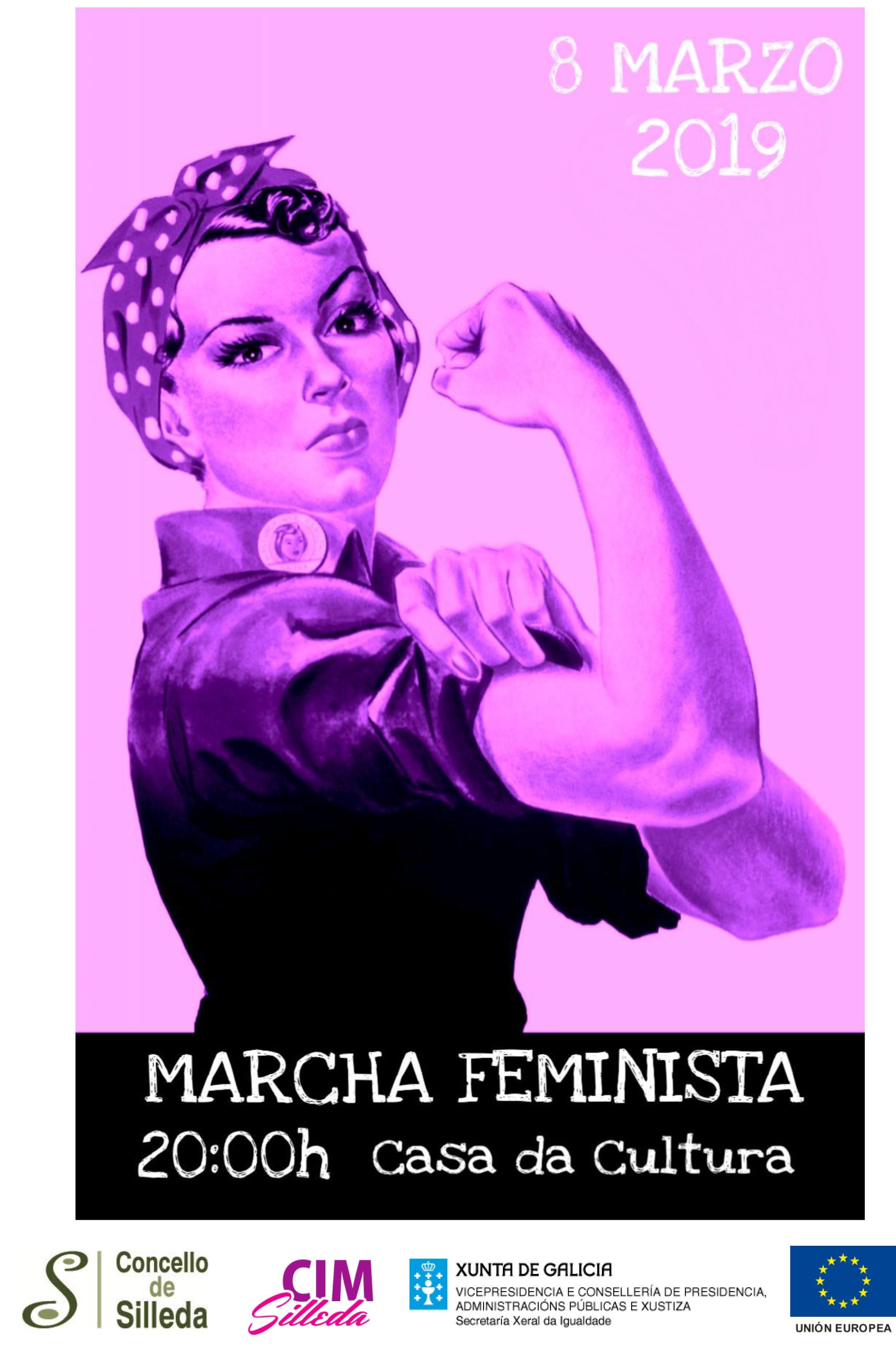 A concentración e a primeira marcha feminista polas rúas de Silleda centran o venres a programación do Día da Muller