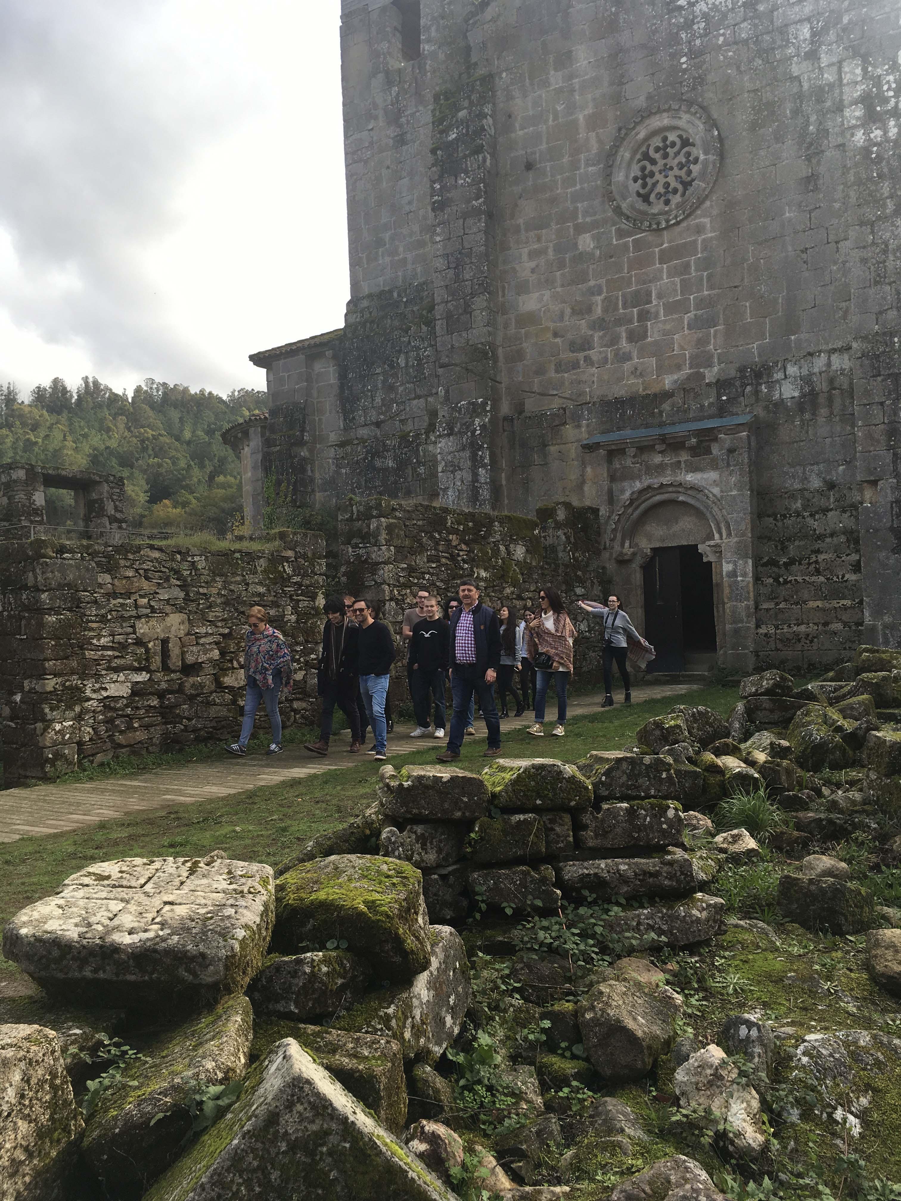O mosteiro de Carboeiro recibiu máis de 2.800 visitas no primeiro trimestre do ano