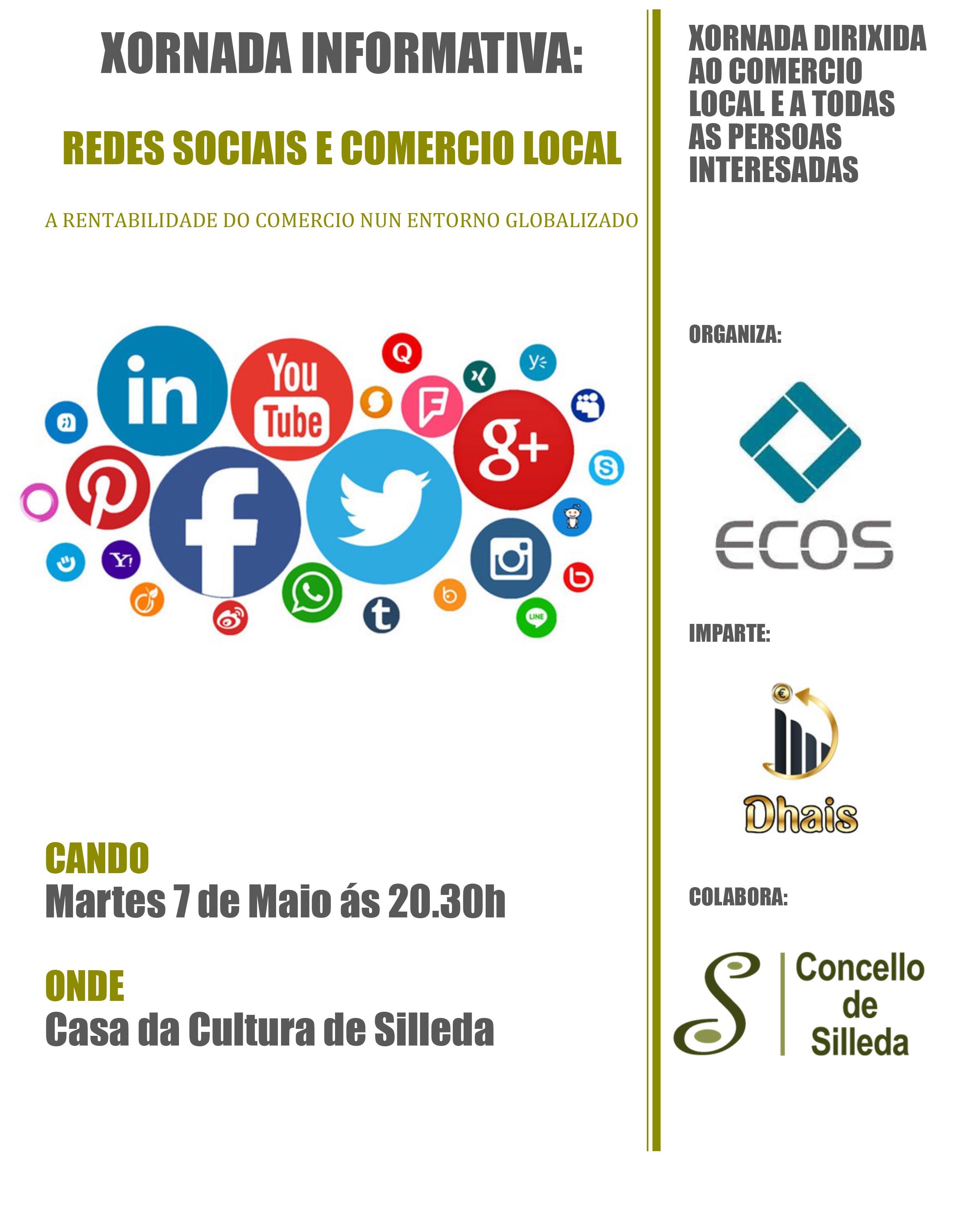 Silleda acolle unha xornada informativa sobre Comercio e Redes Sociais o vindeiro 7 de maio