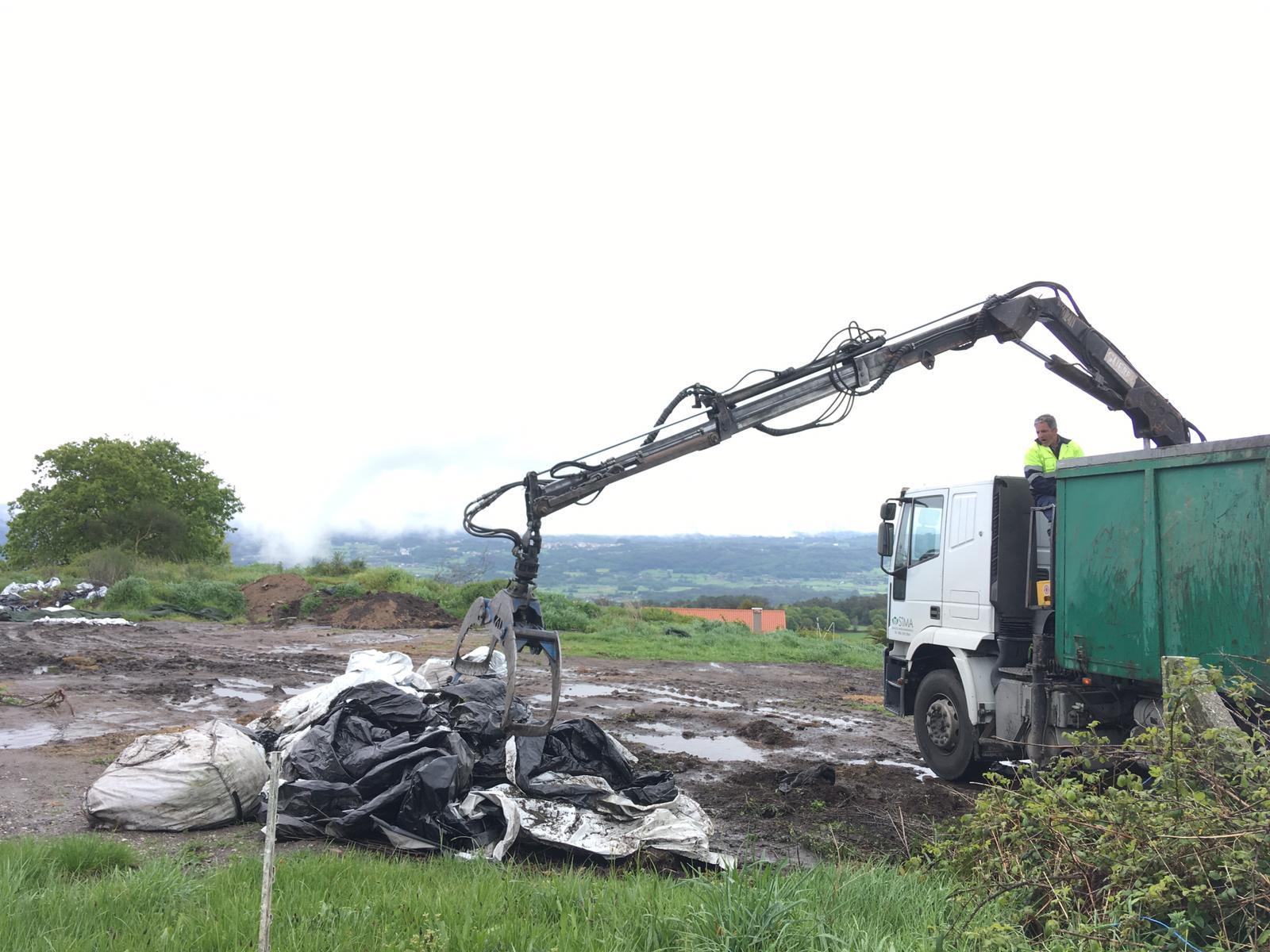 Recollidas  más de 40 toneladas de plásticos agrícolas na primeira fase do ano no municipio de Silleda