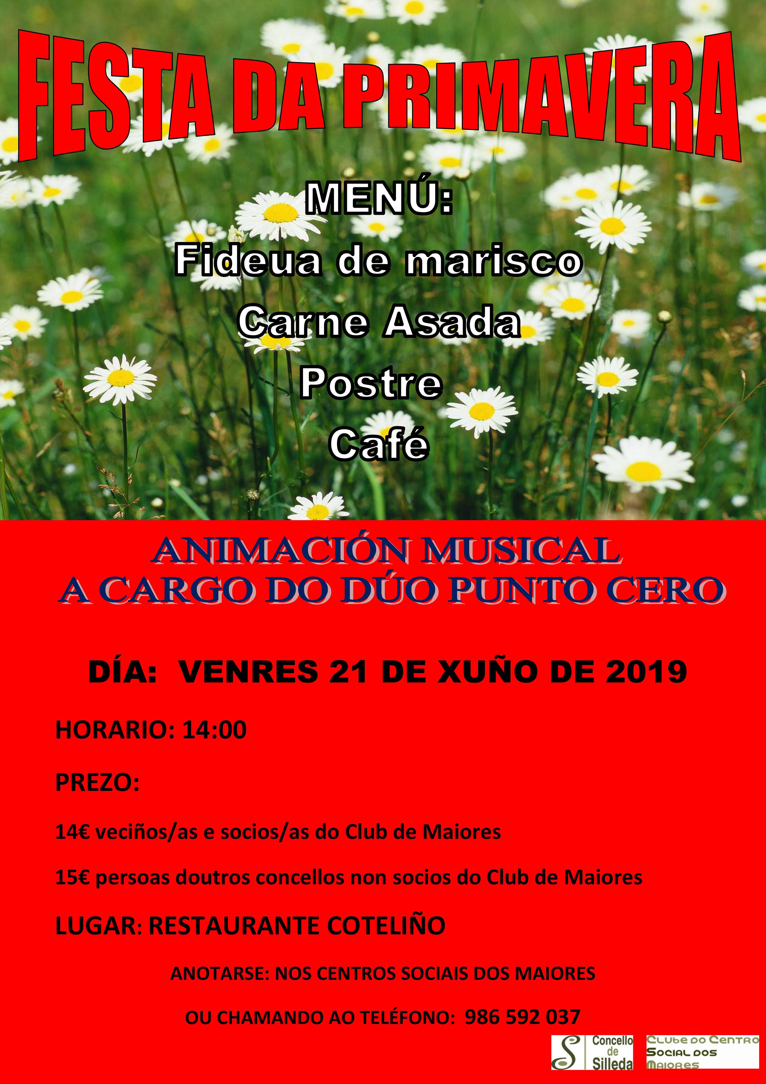 O Club do Centro Social dos Maiores celebrará o vindeiro venres día 21 a  Festa da Primavera