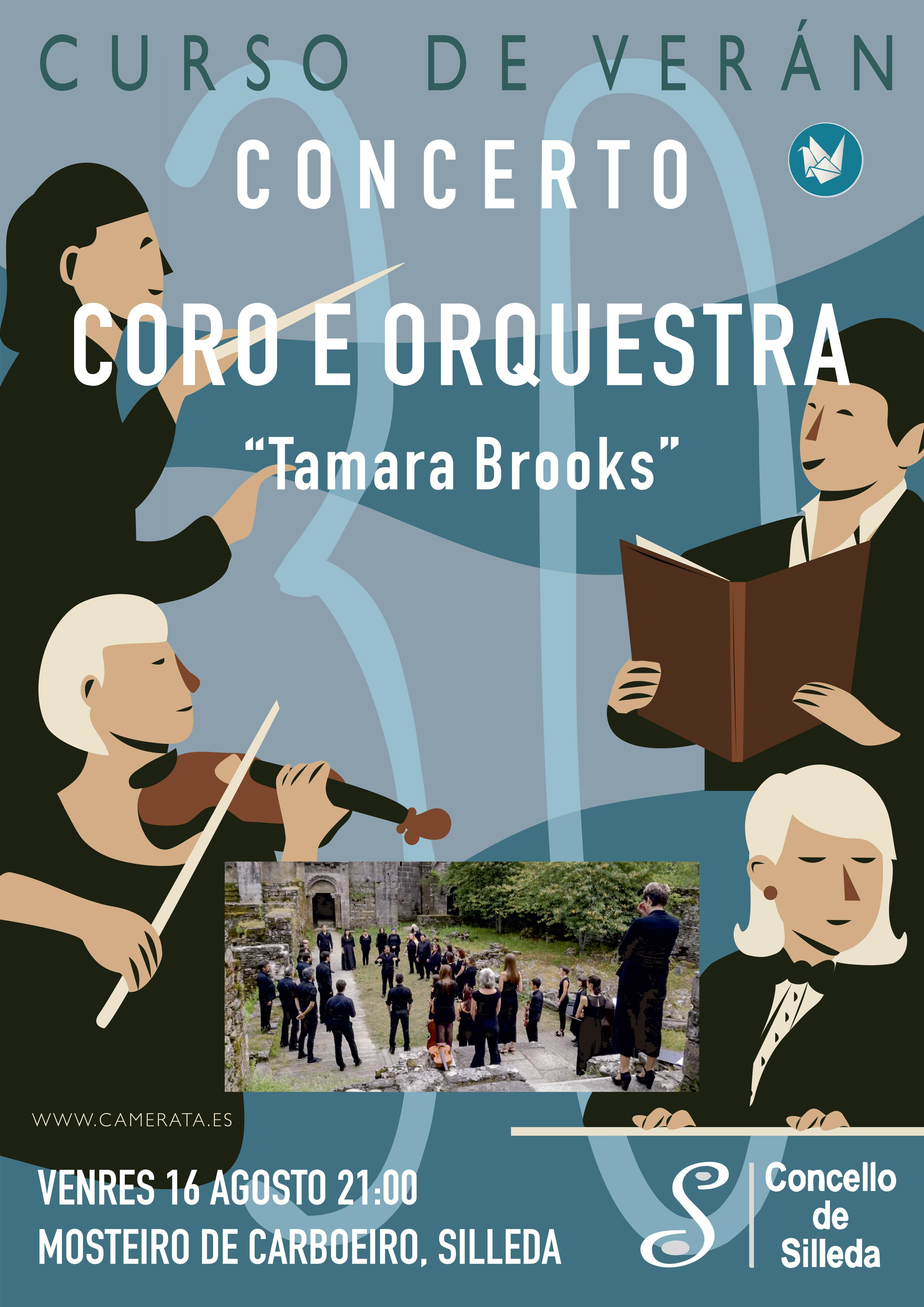 """O Mosteiro de Carboeiro acolle este venres un concerto de coro e orquestra do trixésimo curso """"Tamara Brooks"""""""