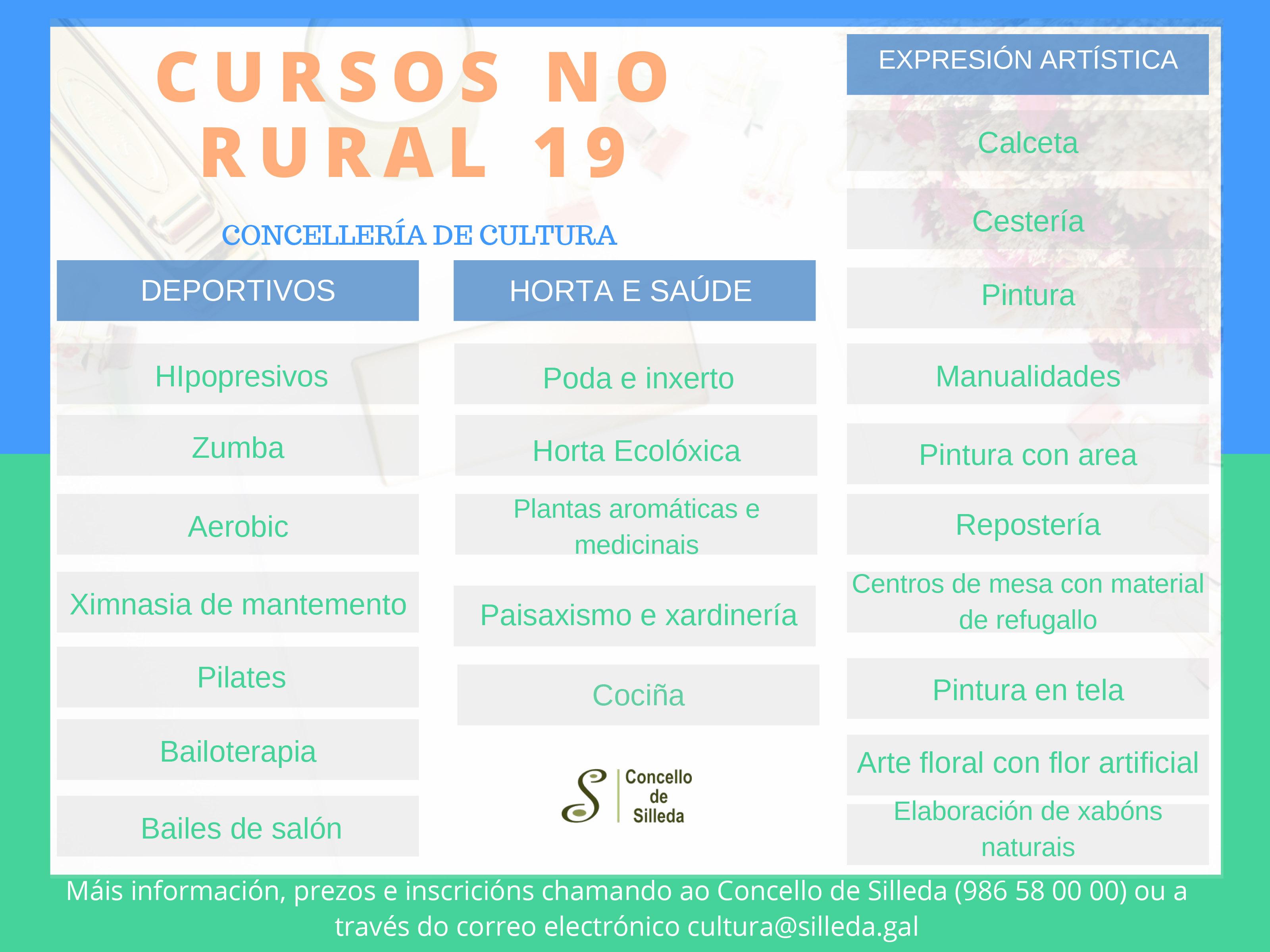 A Concellería de Cultura programa novos cursos para o rural e pon en marcha o programa Silleda Form@cción para a vila de Trasdeza