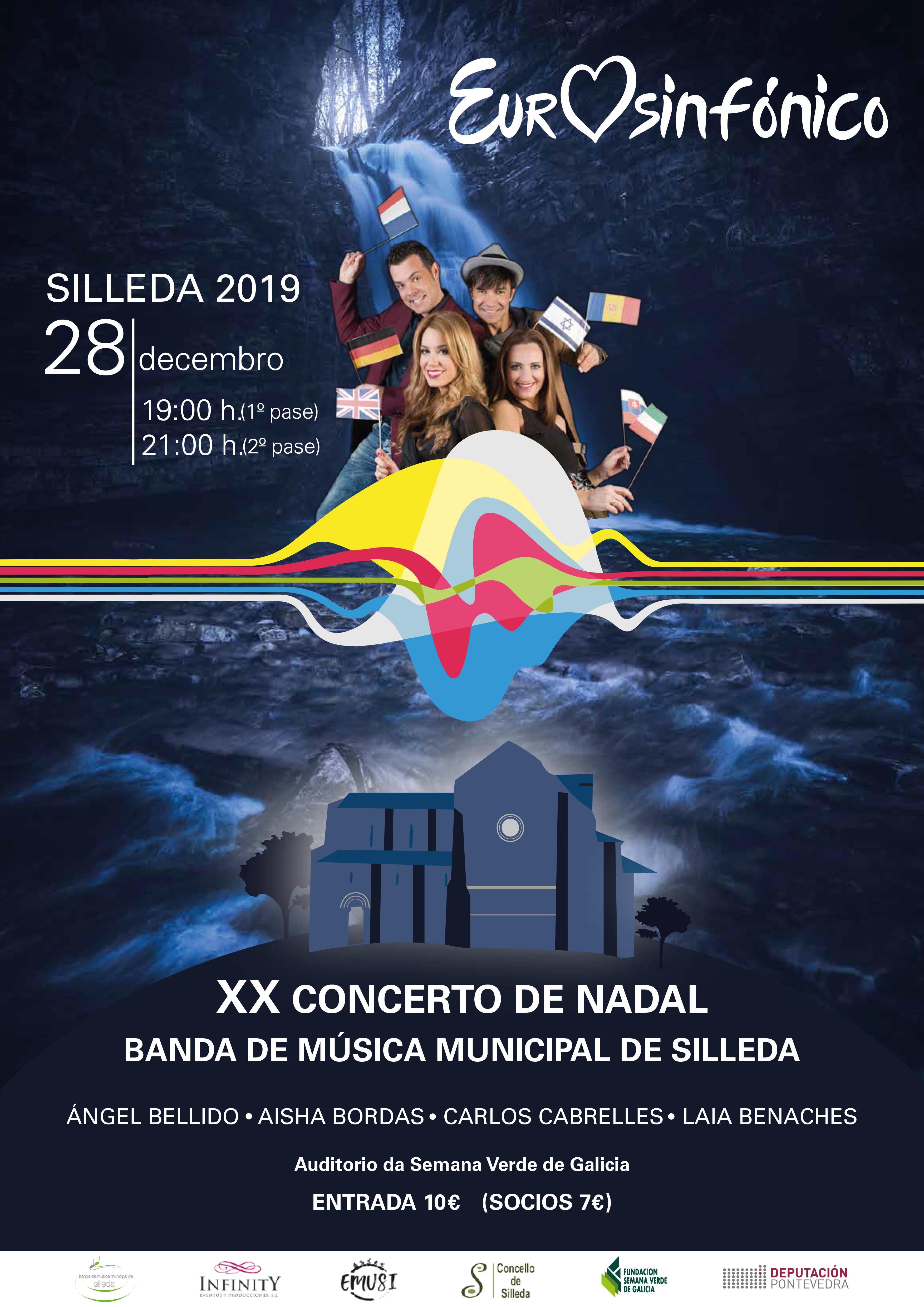 Eurovisión, protagonista do XX Concerto de Nadal da Banda de Música Municipal de Silleda