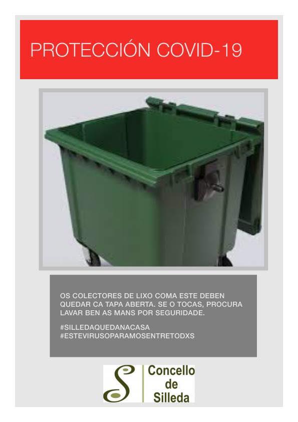 Os colectores do lixo orgánico quedarán ca tapa aberta a partir de mañá no rural de Silleda