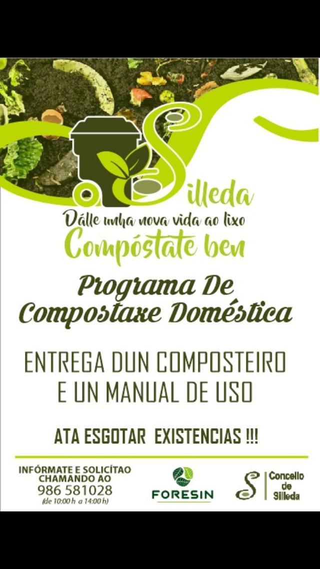 A última fase do programa de compostaxe doméstica de Silleda reparte composteiros á veciñanza