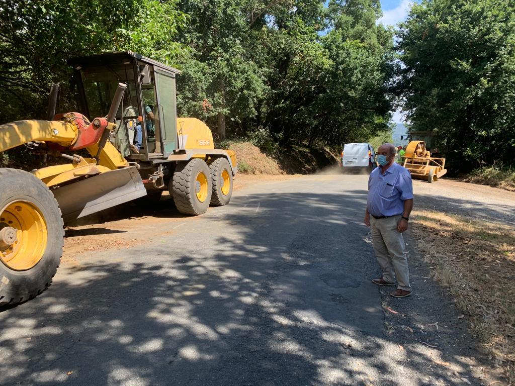 Comenzan as obras do vial de acceso á parroquia de Saídres, cun investimento de 139.966 euros