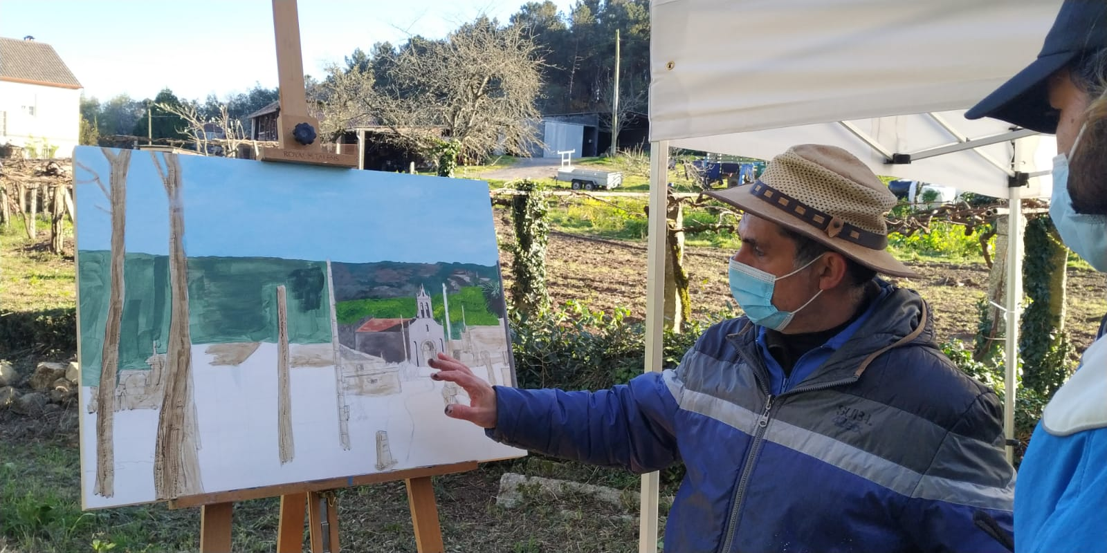 Trasdeza pinta O Camiño remata o vindeiro 17 ca exposición das obras realizadas e un foro sobre pintura